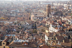 Aerial view of UNESCO World Heritage Site Venice cityscape with roofs of houses Stock Images