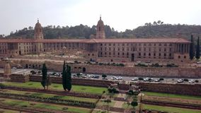 Aerial view of Union Buildings, Pretoria, South Africa stock video footage