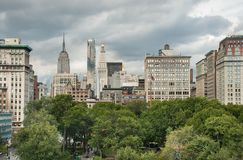 Aerial view of Union Square at New York City. USA stock photography