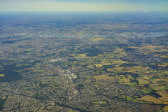 Aerial view of United Kingdom. Aerial View of Orpington in morning, United Kingdom royalty free stock image