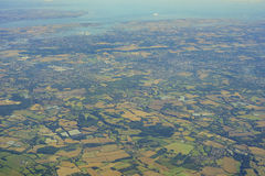 Aerial view of United Kingdom. Aerial view of Rochester, Maidstone, Rainham, Sittingbourne, United Kingdom Stock Image