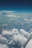 Aerial view of United States. Thunder clouds over the American south stock photos