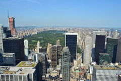 Aerial View of the Upper East Side of Manhattan in New York, NY Royalty Free Stock Images