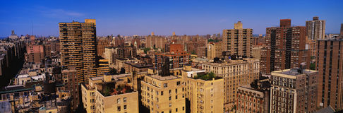 Aerial view of the urban apartments Stock Photos