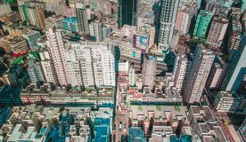 Aerial view of urban area of Hong Kong Stock Photography