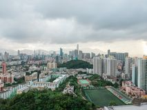Aerial view of urban area of Hong Kong Royalty Free Stock Photos