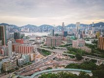 Aerial view of urban area of Hong Kong Royalty Free Stock Photography