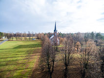 Aerial view of urban area in latvia in autumn Stock Photography