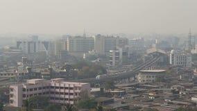 Aerial view of urban landscape in Mumbai.