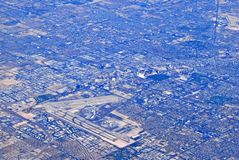 Aerial view of urban sprawl Stock Images