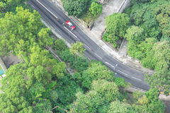 Aerial view of urban traffic road in Shanghai. China Stock Photo