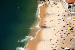 Aerial view of Urca beach  Royalty Free Stock Photo