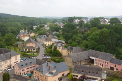 Aerial view of Useldange, Luxembourg, Europe Royalty Free Stock Photography