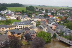 Aerial view of Useldange, Luxembourg, Europe Royalty Free Stock Photo