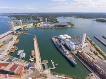 USS Salem CA-139 heavy cruiser, Quincy, MA, USA royalty free stock photos