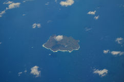Aerial view of Ustica - Italy. Aerial view of the small island of Ustica near Sicily in the Mediterranean Sea Royalty Free Stock Images
