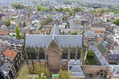 Aerial view of Utrecht stock photo