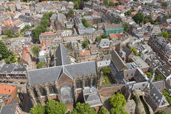 Aerial view of Utrecht, Netherlands. Aerial view from Dom tower over Utrecht, Netherlands Royalty Free Stock Photography