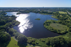 Aerial view of Utterslev Mire part 1, Denmark Royalty Free Stock Photos