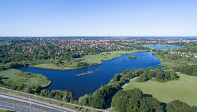 Aerial view of Utterslev Mire part 2, Denmark Royalty Free Stock Photos