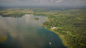 Aerial view of Uzutrakis royalty free stock photo
