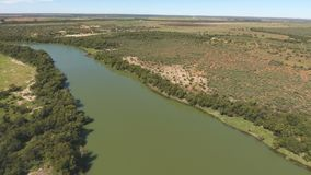 Aerial view of the Vaal river - South Africa stock video footage