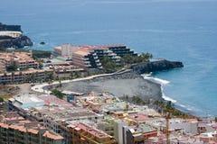 Aerial view of vacation resort at La Palma Stock Photos