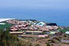 Aerial view of vacation resort at La Palma Royalty Free Stock Images