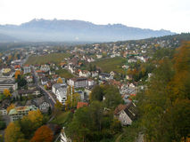 Aerial view of Vaduz Stock Photography