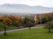 Aerial view of Vaduz. Lichtenstein Stock Photography