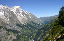 Aerial view of Val Ferret Royalty Free Stock Photos