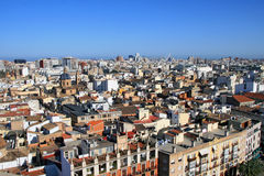 Aerial view of Valencia. Spain Royalty Free Stock Images