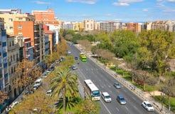 Aerial view of Valencia city, Spain Stock Photos
