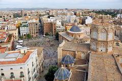 Aerial view of Valencia Stock Photo
