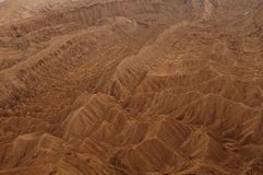 Aerial view of valle de la muerte (death valley) a Stock Photo