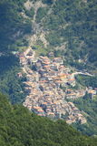 Aerial view of Vallepietra Royalty Free Stock Photos
