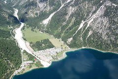 Aerial View of Valley Stock Images