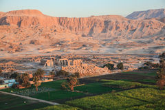 Aerial view of the valley of the kings Royalty Free Stock Photos