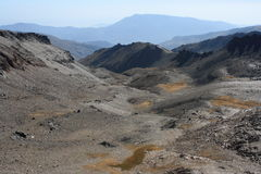 Aerial view of valley in Sierra Nevada National Park Royalty Free Stock Photo