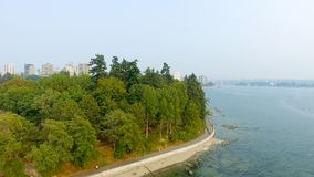 Aerial view of Vancouver skyline from Stanley Park, Canada.  Stock Images
