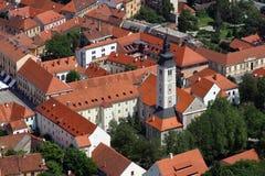 Aerial view of Varazdin, city in Croatia. Aerial view of Varazdin, city in northwestern Croatia Stock Photography