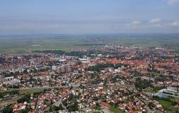 Aerial view of Varazdin, city in Croatia. Aerial view of Varazdin, city in northwestern Croatia Royalty Free Stock Images