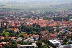 Aerial view of Varazdin, city in Croatia. Aerial view of Varazdin, city in northwestern Croatia Royalty Free Stock Photos