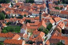 Aerial view of Varazdin, city in Croatia. Aerial view of Varazdin, city in northwestern Croatia Stock Images
