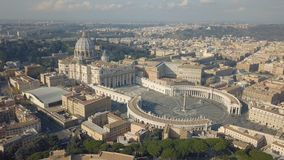 Aerial view of Vatican city. At day time stock video footage