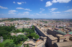 Aerial view of the Vatican City and Rome. Stock Image