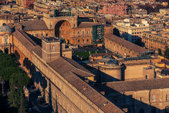 Aerial view of Vatican City and Rome, Italy Royalty Free Stock Photography