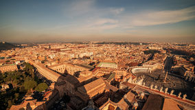 Aerial view of Vatican City and Rome, Italy Stock Photos