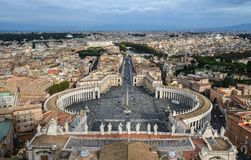 Aerial view of Vatican City stock photo