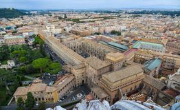 Aerial view of Vatican City stock photos